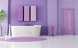 purple modern bathroom